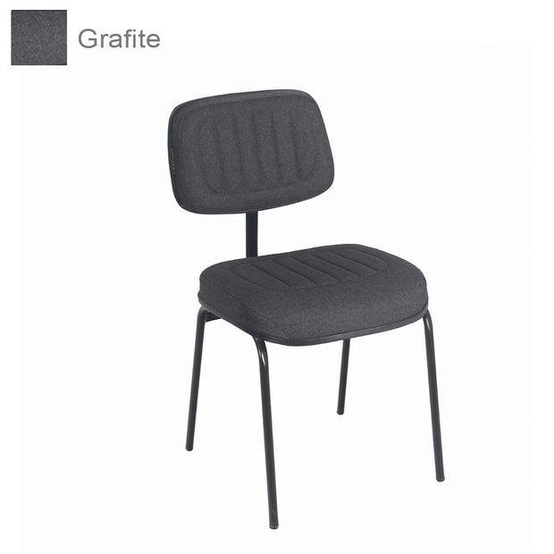 cadeira-secretaria-fixa-658-pe-palito-sem-braco-veneza-grafite-diamond-base-preta