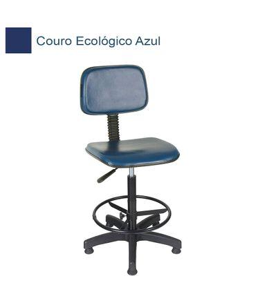 Cadeira-Caixa-Giratoria-com-apoio-de-pes-em-Couro-Ecologico-Azul