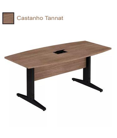 mesa-de-reuniao-semi-oval-com-conectividade-e-pe-prato-alfamob-corporativo-castanho-tannat