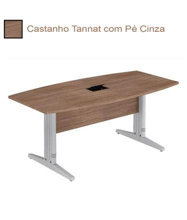 mesa-de-reuniao-semi-oval-com-conectividade-e-pe-cinza-alfamob-corporativo-castanho-tannat