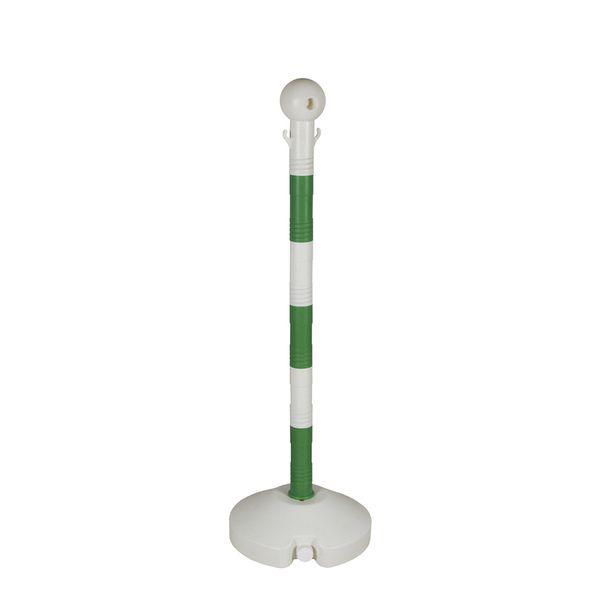 delimitador-de-fila-em-polietileno-1-m-verde-e-branco-seminovo-olimpico