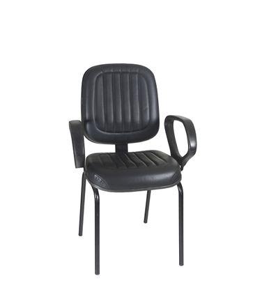 Cadeira-Atendimento-659-com-braco-pe-palito-Veneza-Couro-Ecologico-Preta