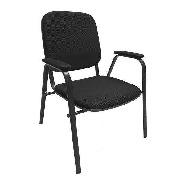 Cadeira-atendimento-com-braco-em-tecido-Super-Light-preta