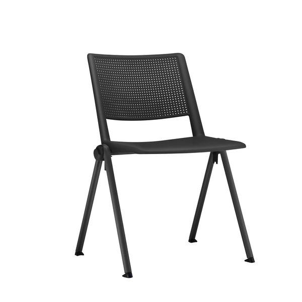 Cadeira-fixa-sem-braco-preta-frisokar-UP